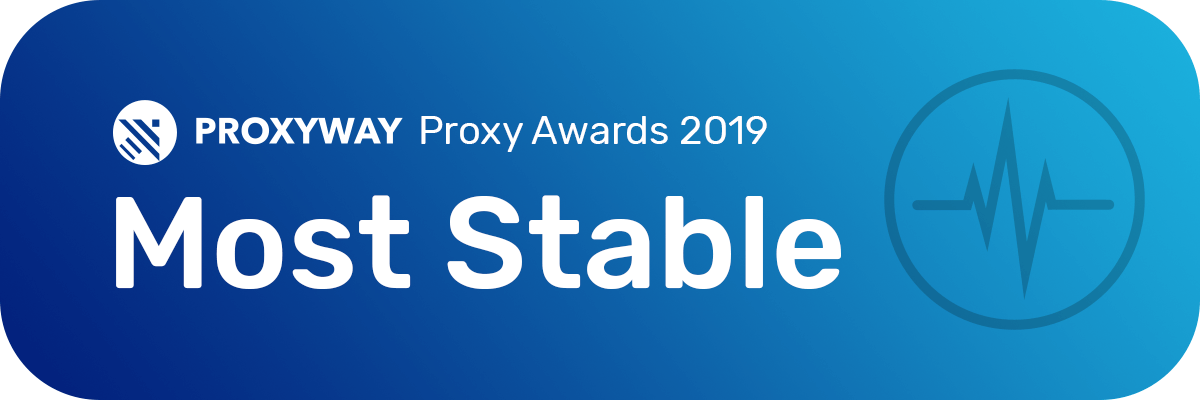Proxyway Most stable award 2019