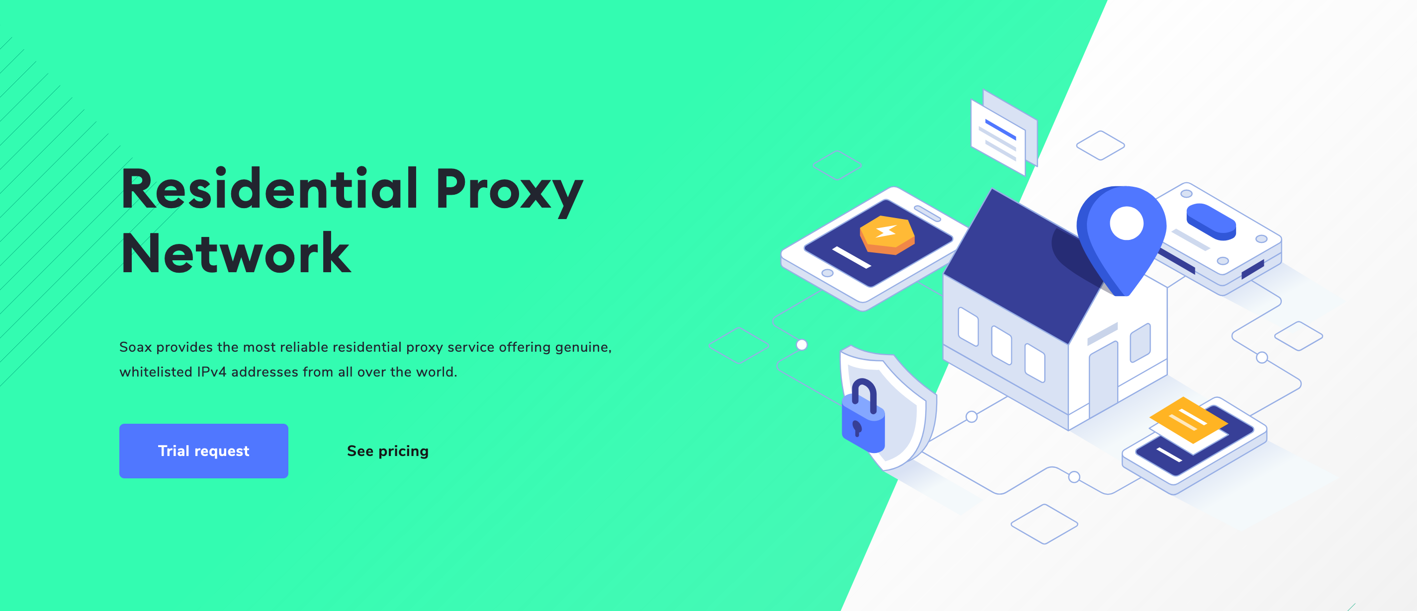 soax residential proxies page