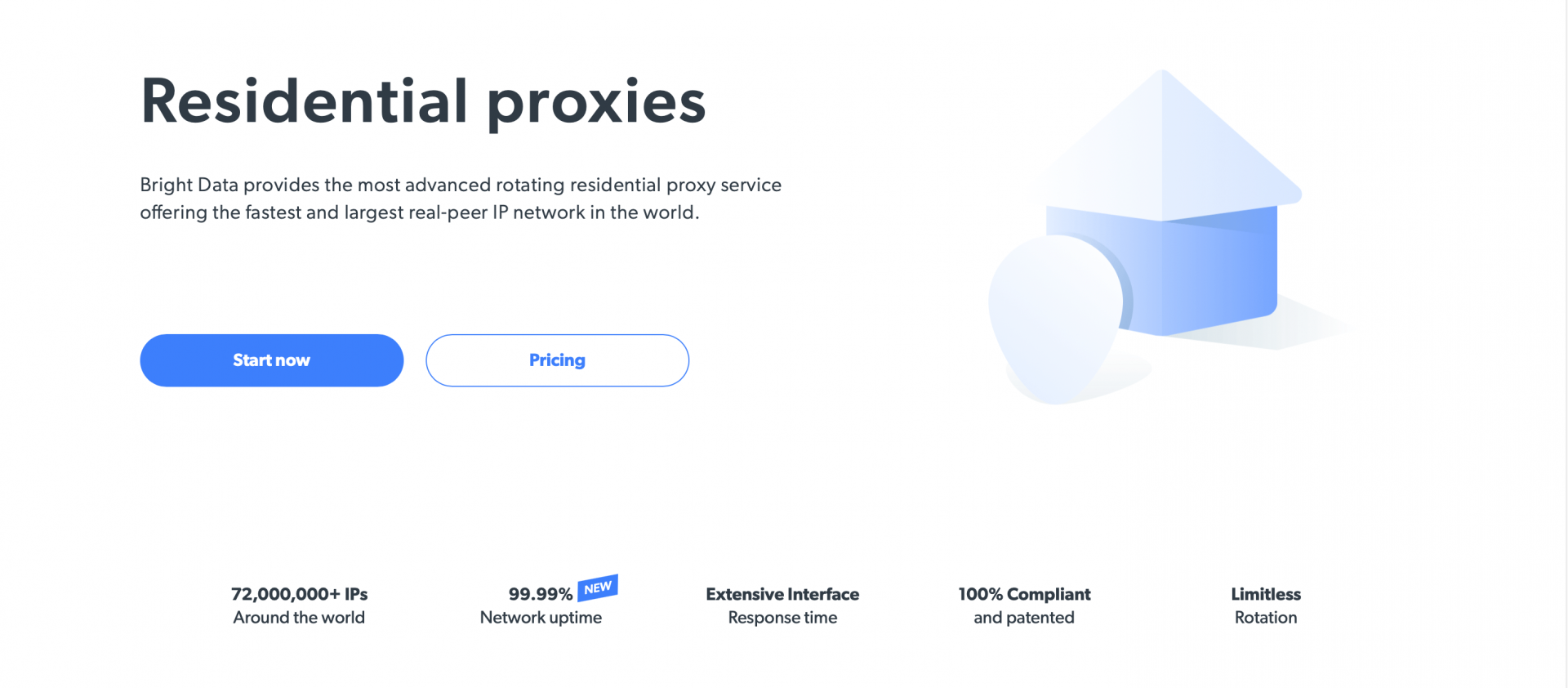 bright data residential proxies page